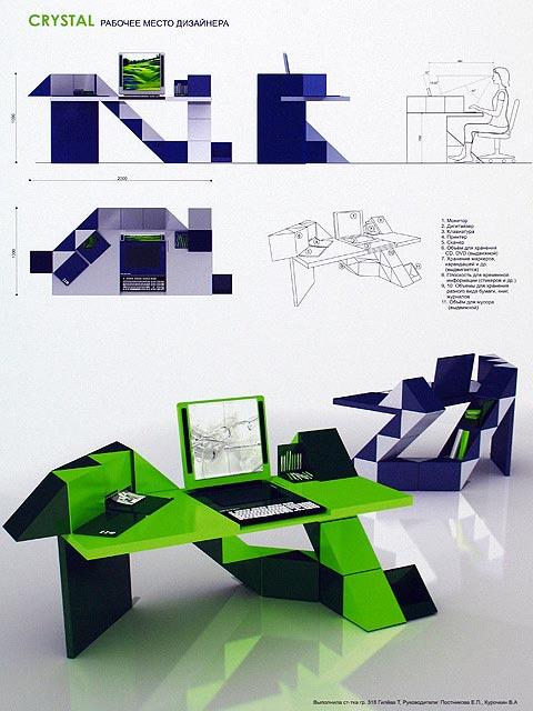 Дизайн проект рабочие места 605